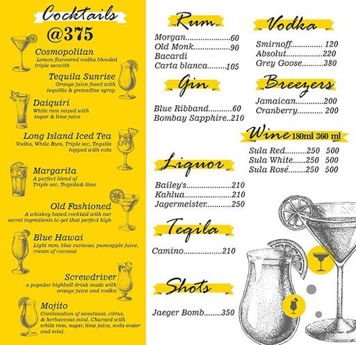 H Lounge menu 2