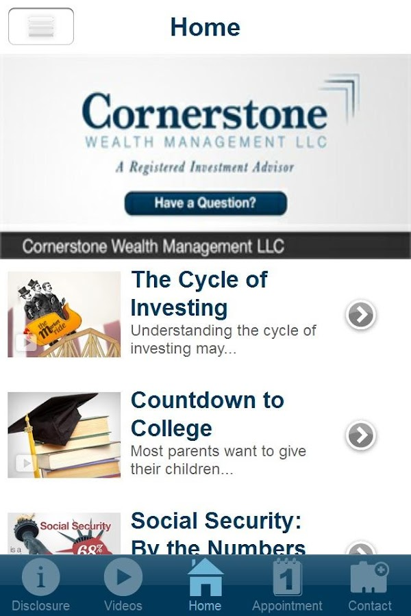 Cornerstone Wealth Management- screenshot