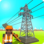 Electrical Grid Station Construction: Building Sim