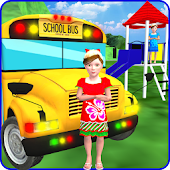 Kids School Trip Bus Game 3D