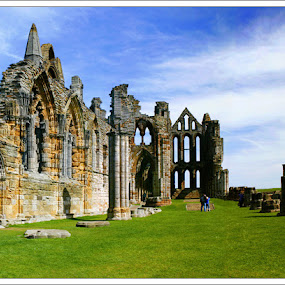 Whitby Abbey by Steve BB - Buildings & Architecture Public & Historical ( vampires, yorkshire, goth, monastry, dracula, ruins, whitby, whitby abbey )