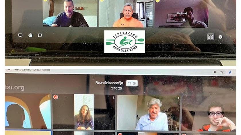 Reunión virtual con los clubes del remo andaluz.