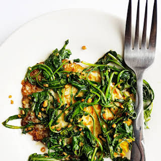 Fried Eggs with Garlicky Greens.