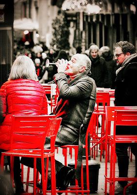 Red aperitif in the street di sly71