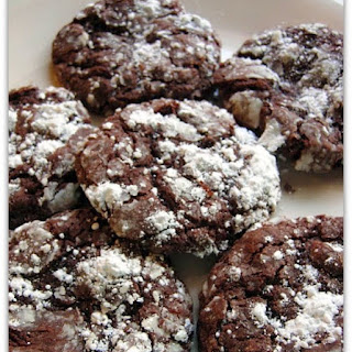 Chocolate Gooey Butter Cookies.