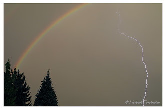 Photo: Blitz und Regenbogen  (Lightning and Rainbows)