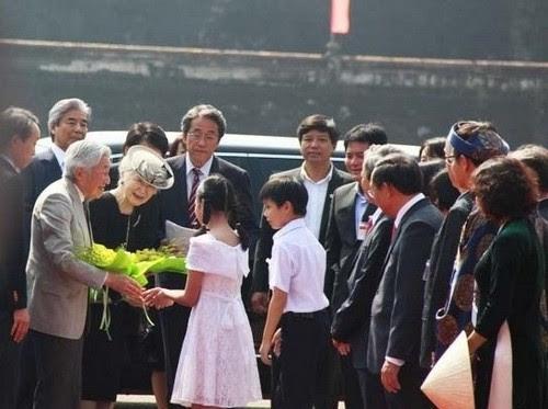 Đại Nội Huế đón Nhà vua và Hoàng hậu Nhật Bản