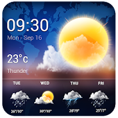 Weather widgets for Android&tranlparent world map