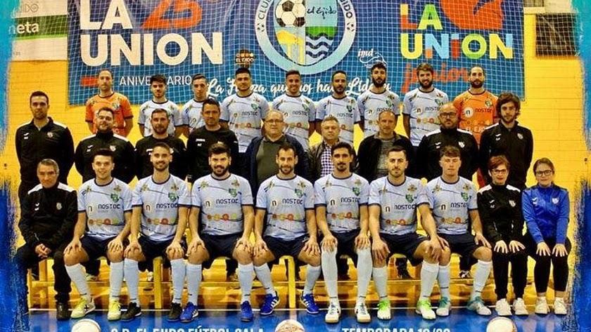 La plantilla del CD El Ejido proclamado campeón.