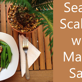 Seared Scallops with Mango Salsa