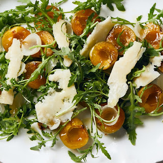 Arugula with Italian Plums and Parmesan Recipe