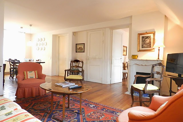 Bright living space at 2 bedroom Apartment with St Germain Views