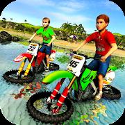 Kids Water Surfer Motorbike Racing - Beach Driving