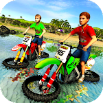 Kids Water Surfer Motorbike Racing - Beach Driving Icon