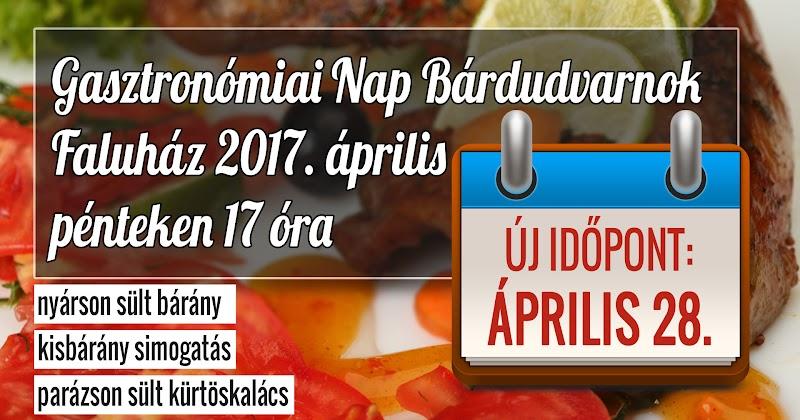 A gasztronómiai nap új időpontja 2017 április 28