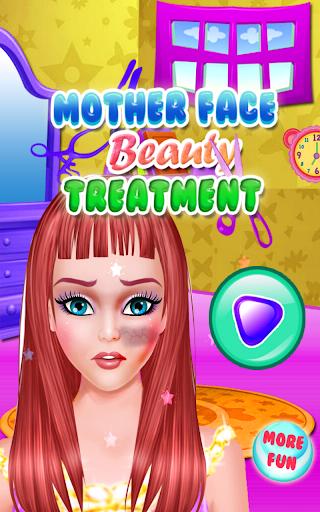 面部護理遊戲的女孩