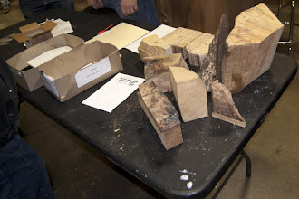 Photo: Some other interesting offcuts in the Silent Auction.