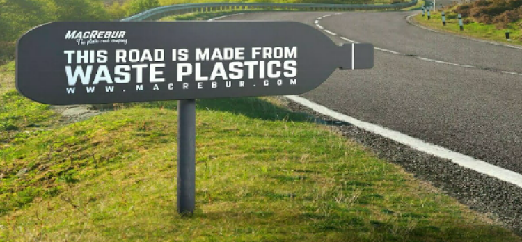 An image shown during a presentation on plastic roads as the Kouga municipality launches a pilot road project in Jeffreys Bay