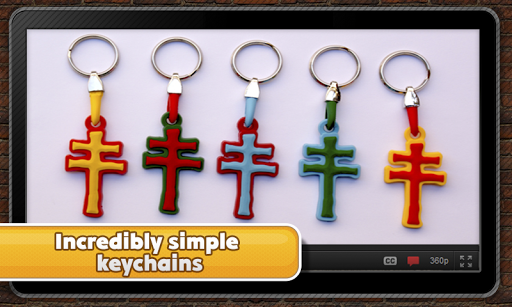 Polymer keychains