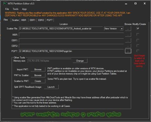 MTK Partition Editor by MasterC0de