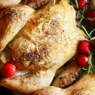 Cornish Game Hens with Cranberry Stuffing.