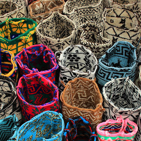 Handmade Wool Bags by Robert Hamm - Artistic Objects Other Objects ( otavalo, craft, market, ecuador, colorful, color, texture, bag, outdoor, shape, wool, material,  )