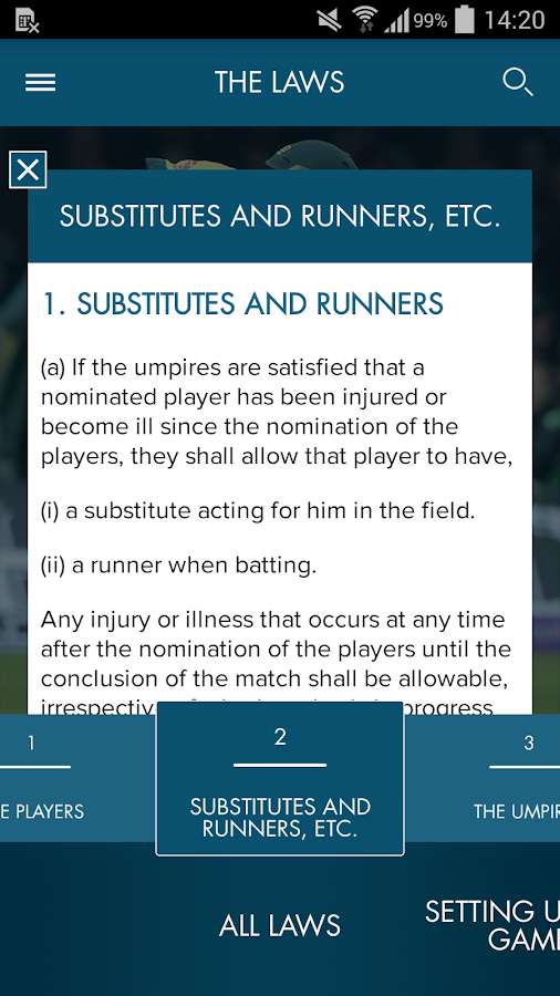 Official Laws of Cricket- screenshot