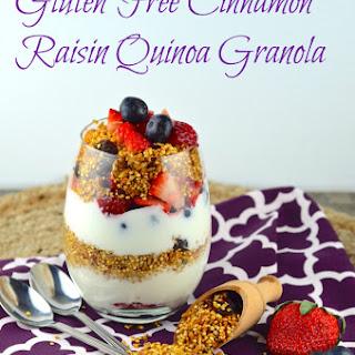 Cinnamon Raisin Quinoa Granola