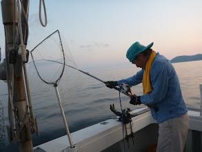 """Photo: まずは、長崎での釣りは初めての""""アオキさん""""!"""