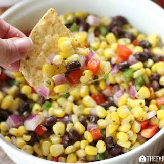 Roasted Corn And Black Bean Salsa.