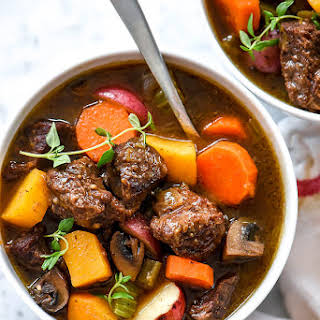 Butternut Squash Beef Stew (Instant Pot, Pressure Cooker or Slow Cooker).