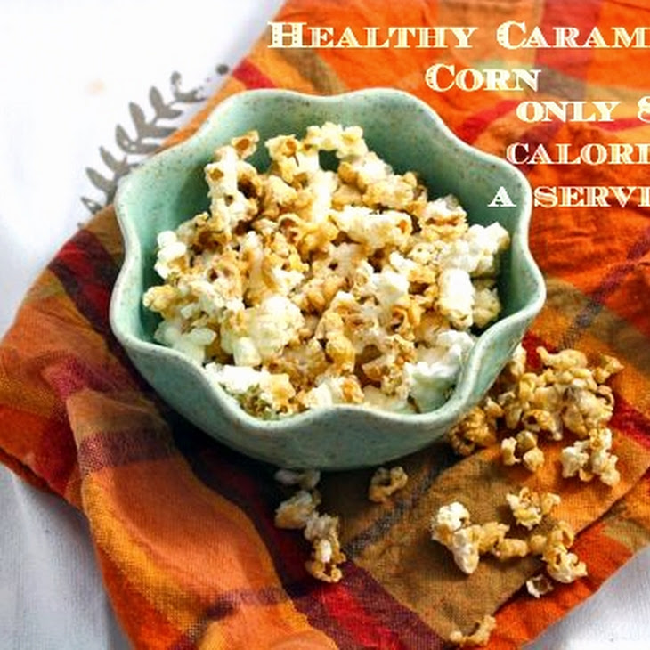 Healthy Caramel Corn (Vegan/Low Carb/Low Fat/)