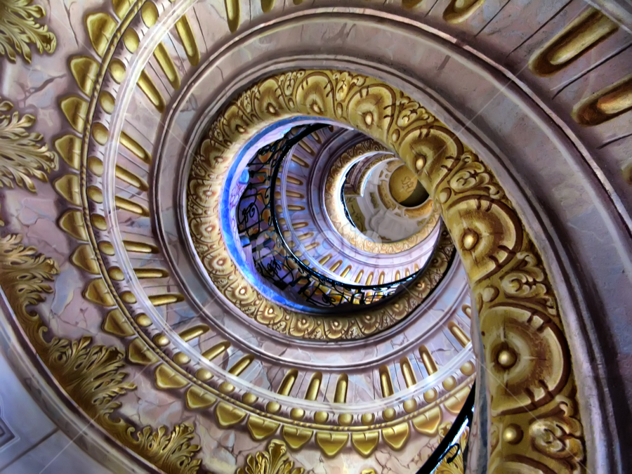 Melk Abbey and Umberto Eco by Daliana Pacuraru - Buildings & Architecture Architectural Detail ( abbey, daliana pacuraru, stairs, pwcdetails, spiral, umberto eco, vienna, architecture )