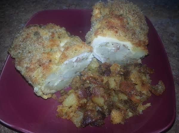 Breaded Stuffed Chicken Breast