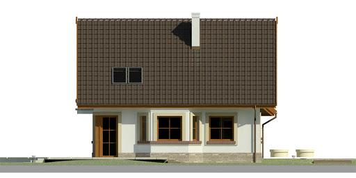 Dom przy Cyprysowej 38 - Elewacja lewa
