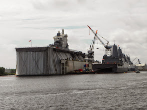 Photo: A carrier in Norfolk is getting all dressed up for a party.