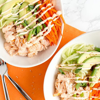 Salmon Sushi Bowls for Two.