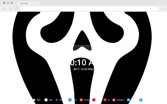 Scream HD New Tabs Popular Horror Theme