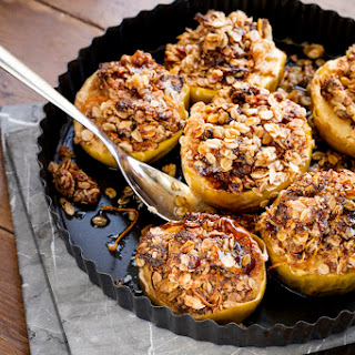 Mini Apple and Coconut Crumbles with Coconut Yoghurt