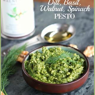 Dill, Basil, Walnut, Spinach Pesto