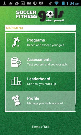 Soccer Fitness Gols Fitness app screenshot 1 for Android