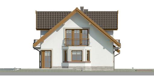 Dom przy Cyprysowej 14 D - Elewacja lewa