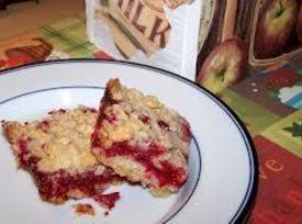 Cranberry Squares ~ Flavors Of Cape Cod Recipe