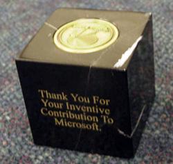 Microsoft patent award cube