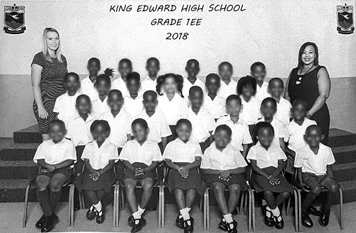 An all black class at King Edward High.