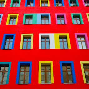 Coloured apartments by Georgios Kalogeropoulos - Buildings & Architecture Homes ( home, house, coloured apartments )