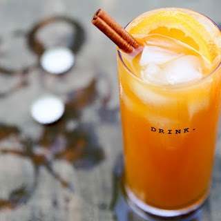 Pumpkin Beertail with Tequila and Spiced Rum.