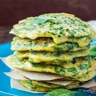 Diet menu. Fritters of greenery