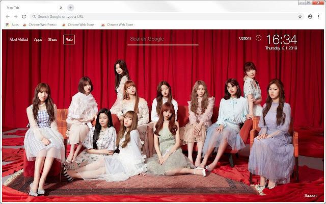 Kpop IZONE HD Wallpapers New Tab Themes