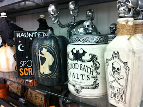 Photo: I always have to go to Marshalls with a list & a purpose. Otherwise I get distracted by the wide array of items they have to offer, like Halloween decor! I would put these in place of my sugar & flour canisters during Halloween.